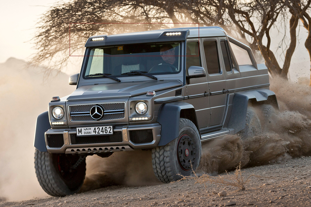Mercedes 6×6 AMG-style LED Light Bar for G-class G500, G55 ...