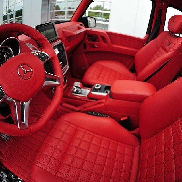 brabus fine leather interior for mercedes benz g class w463 - G Wagon Red Interior