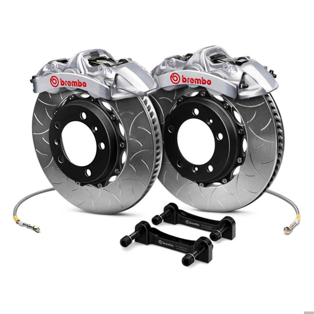 Brembo Brake Kit >> Brembo Gt Series Curved Vane Type Iii 2 Piece Rotor Brake Kit For