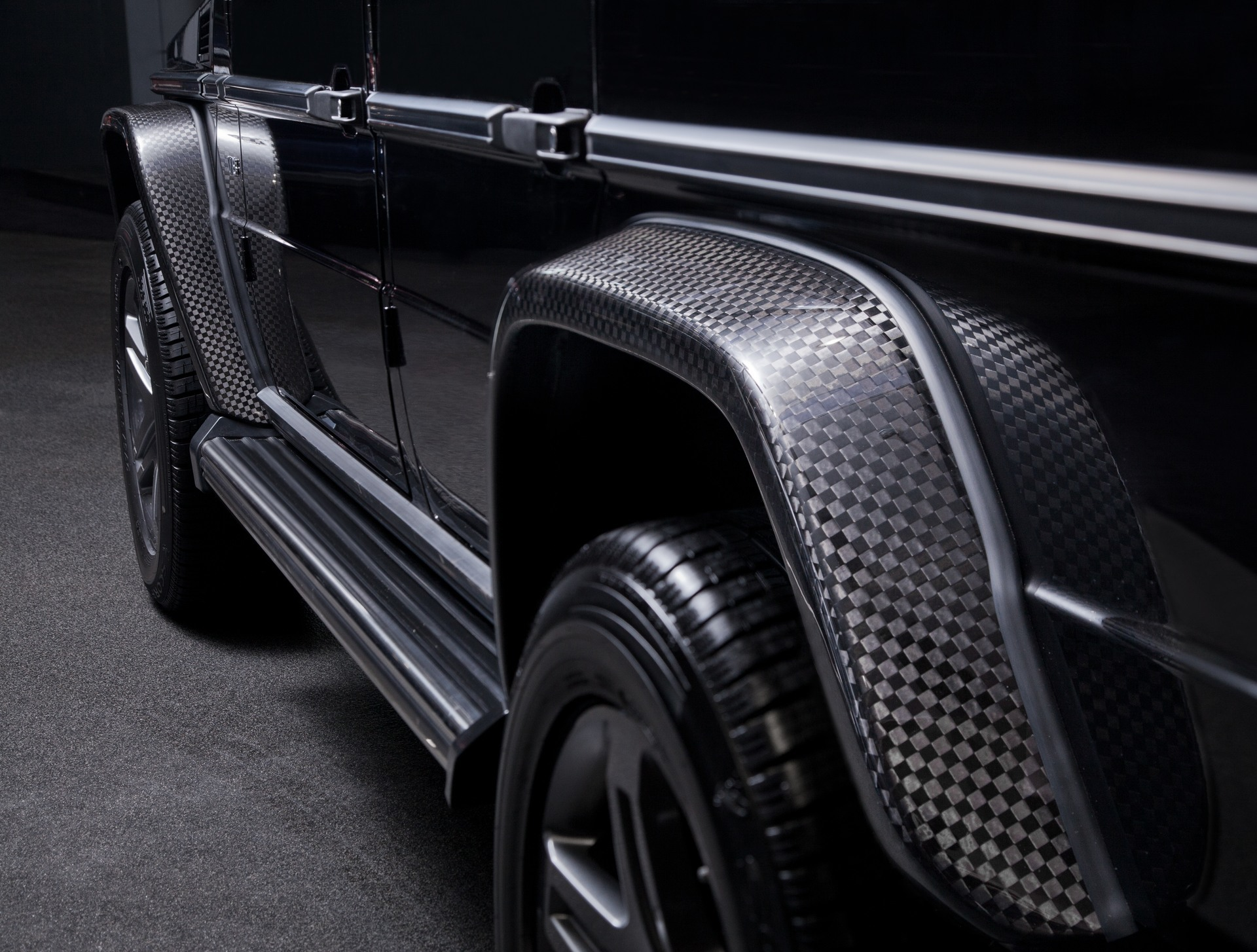Carbon fiber front rear fender arches set of 4 for g for Mercedes benz g500 parts accessories