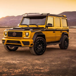 Mansory Mercedes Carbon Fiber Roof Cover With Position Lights For G-Class