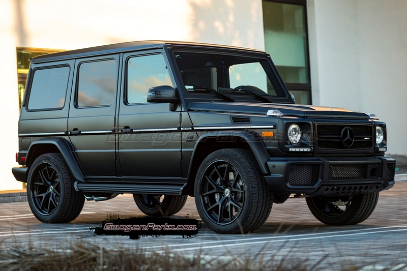 Hre S101 In Satin Black For Mercedes Benz G65 Amg Gwagenparts Com Mercedes G Class Parts
